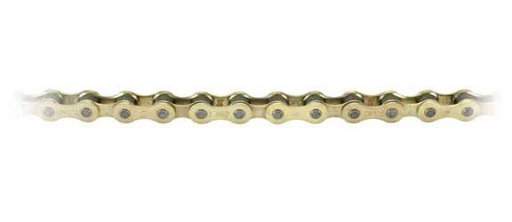 "KMC Z410 Single Speed Bicycle Chain - Gold, 1/2 x 1/8"", 112 Links"