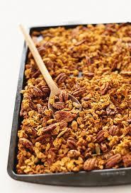 Pumpkin Flaxseed Granola Nutrition Info healthy pumpkin granola minimalist baker recipes