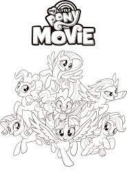 My Little Pony The Movie Coloring Page With Ponies