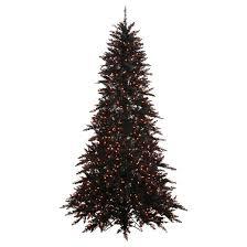 Target Artificial Christmas Trees Unlit by 9 U0027 Pre Lit Artificial Christmas Tree Black Fir Orange Lights