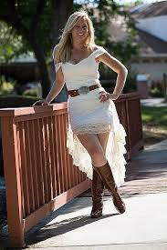 High Low Wedding Dresses With Cowgirl Boots Inspirational Pretty Rustic Western Dress Perfect For A Country