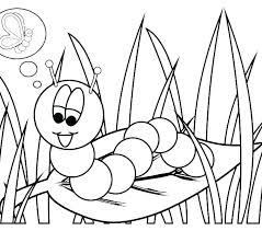 Caterpillar Coloring Pages Web Monarch Page Very Hungry Caterpil