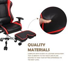 gaming chair with footrest sensational 71pcct13dpl sl1500