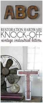 vintage industrial letters