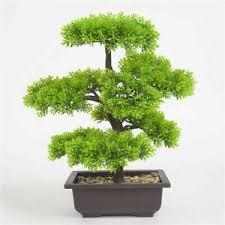 bonsai dekoblumen künstliche pflanzen fürs badezimmer