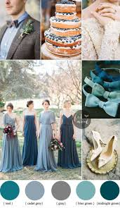 Different shades of blue green Wedding Midnight Green gray