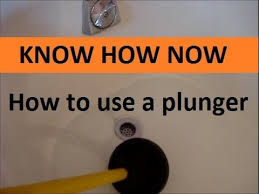 Unclogging A Bathtub With A Plunger by How To Clear A Clogged Drain With A Plunger Youtube