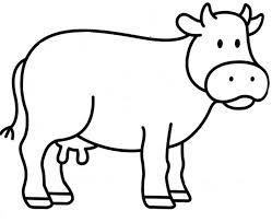 Coloriage Vache Les Beaux Dessins De Animaux à Imprimer Et Colorier