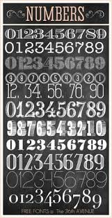 Awesome Number Free Fonts Matt Valk Chuah 36th Avenue