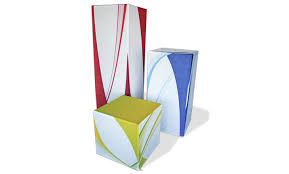 Cube Portable Display Stand And Graphic Printed On Tention Fabric
