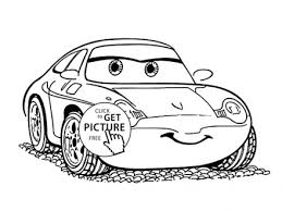 Sally Cars Coloring Page For Kids Disney Pages