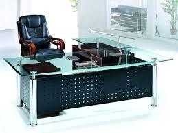 desk l shaped desk glass top modern design glass top computer