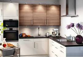 Elegant Kitchen Design For Small Apartment With Lighting