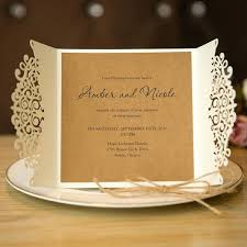 Rustic Elegance Wedding Invitations Laser Cut Invitation Cards With Band Templates Uk