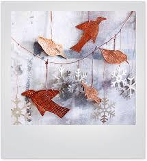 Copper Birds Christmas Tree Decoration