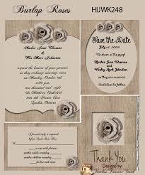 Burlap Wedding Invitations Printable Do It Yourself