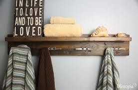 Custom Made Bath Shelf With Boat Cleat Towel Hooks
