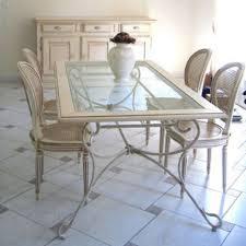 salle à manger en fer forgé artisanale tables chaises