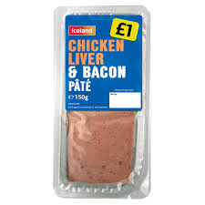 iceland chicken liver bacon pâté 150g pate cooked meats