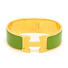hermes h clic clac labellov hermes light vert anis clic clac h bracelet buy and