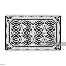 Turkish Carpet Icon In Black Style Isolated On White Background Turkey Symbol Stock Vector Illustration