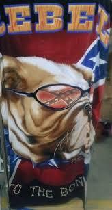 rebel to the bone confederate flag beach towel redneck apparel
