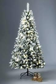 Snowy Pre Lit Christmas Tree Tall Skinny Trees Slim Artificial Next Led Paper