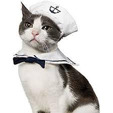 costume for cat namsan cat sailor costume hat navy tie pet supplies
