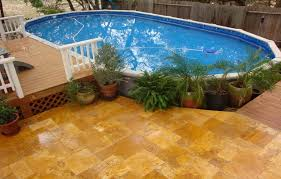 above ground pool decks for oval pool above ground pools with