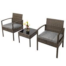 UBesGoo 3 Piece Patio Furniture Set Wicker Rattan Outdoor Patio  Conversation Set 2 Cushioned Chairs & End Table Supagarden Csc100 Swivel Rattan Outdoor Chair China Pe Fniture Tea Table Set 34piece Garden Chairs Modway Aura Patio Armchair Eei2918 Homeflair Penny Brown 2 Seater Sofa Table Set 449 Us 8990 Modern White 6 Piece Suite Beach Wicker Hfc001in Malibu Classic Ding And 4 Stacking Bistro Grey Noble House Jaxson Stackable With Silver Cushion 4pack 3piece Cushions Nimmons 8 Seater In Mixed