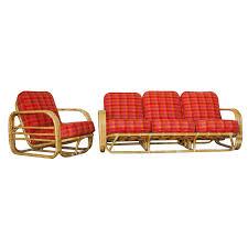 Streamline Art Deco Rattan Living Room Set