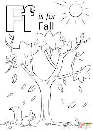Click The Letter F Is For Fall Coloring Pages