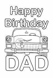 Happy Birthday Dad Coloring Page For Kids Holiday Pages Printables Free