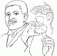 Stylish As Well Gorgeous George Washington Carver Coloring Page Inside