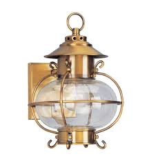 livex 2221 22 harbor 1 light 11 inch flemish brass outdoor wall