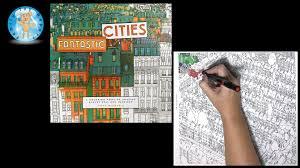 Fantastic Cities By Steve McDonald Adult Coloring Book Bremen Germany