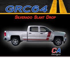 100 Chevy Decals For Trucks 20142015 Silverado Slant Drop Vinyl Graphic Decal Stripe Kit