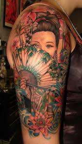Color Geisha Asian Woman Tattoo