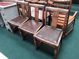 Three 1930's Art Deco Style Dining Chairs With Brown Leather ... Art Deco Ding Set Buyfla Art Deco Ding Room Chairs Fniture French Style Set Large Chair Products In 2019 Metal Bed Frame Modern Uk Table And Chairs For Sale Strathco Custom Upholstered Of 8 Antique Burr Ref No 03979 Regent Antiques Style Fniture Alargaco English Leather Newel 1930s Vintage 6 1940s Ebony Stained Oak Decostyle With Vase Shaped Legs Descgarappvnonline