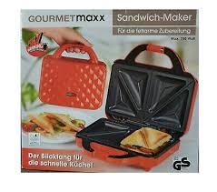 gourmetmaxx sandwich maker sandwichtoaster rot ovp neu ebay