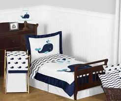 Blue Whale Fish Toddler Bedding 5pc Bed in a Bag forter Set