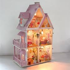 Merry Provence House Room DIY Dollhouse Kit With LED Light Wood