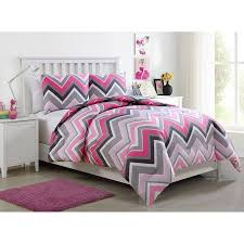 Walmart Chevron Bedding by Vcny Home Lorena Pink Chevron Bedding Comforter Set Walmart Com