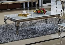 couchtisch aura wohnzimmer designer luxus tisch büro edelstahl glas barock chrom glasplatte weiss couchtisch größe 130 x 70