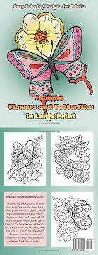 Simple Flowers And Butterflies In Large Print Hand Drawn Easy Designs Pictures Of