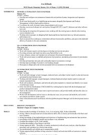 Automation Test Engineer Resume Samples | Velvet Jobs