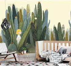 großhandel große 3d kakteen wandmalereien fototapete für wohnzimmer kaktus pflanze wand papier 3 d papel de parede tun desktop benutzerdefinierte