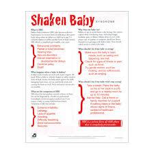 Shaken Baby Syndrome Tear Pad English Spanish