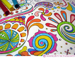 Abstract Art Coloring Page