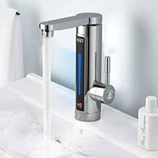 Elektrischer Wasserhahn Durchlauferhitzer Armatur Mischbatterie 3300w Elektrische Wasserhahn Sofort Warm Armatur Für Bad Küche Durchlauferhitzer Mit Digitale Wassertemperaturanzeige 360 Drehbar